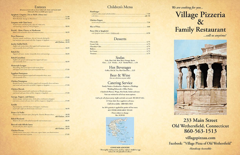 Village Pizza Restaurant, Wethersfield, CT